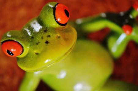 青蛙, 有趣, 图, 可爱, 陶瓷, 乐趣, 青蛙