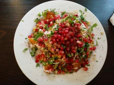 食品, 沙拉, 石榴籽, 印度菜, 板, 素食主义者, 民族食品