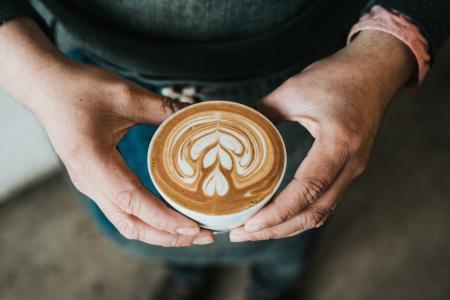 咖啡, 热, 饮料, 特浓咖啡, 杯, 飞碟, 勺子