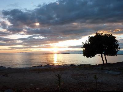 日落, 克罗地亚, 景观, 暮光之城, abendstimmung, 心情, 云彩