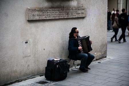 街头音乐家, 手风琴, 音乐家, 音乐, 人, 街头音乐家, 男子