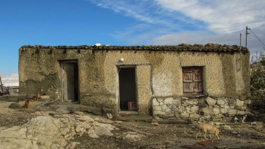 仓库, 存储, 老, 风化, 村庄, 农村, 马吉