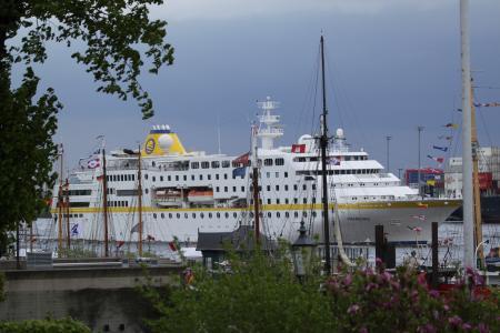 汉堡, 易北河, 端口, 德国, 小船, 水, 船舶