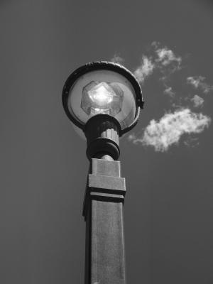 灯杆, 光, 天空, 灯, 电源, 路灯, 电动