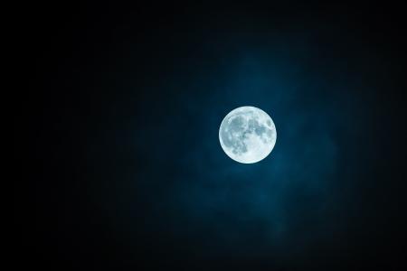 月亮, 丰满的, 天空, 神秘, 自然, 农历, 满月