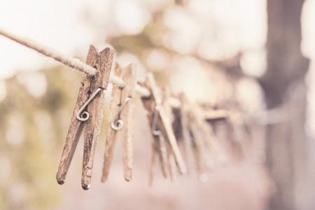 晾衣绳, 衣钉, 衣夹, 干燥, 洗衣, 洗涤, 木制