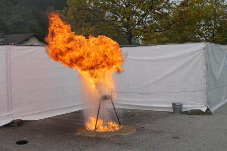消防, 石油, 水, 液体, 火球, 滴灌, 危险