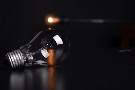 行动, 模糊, 灯泡, 黑暗, 电力, 能源, 照明