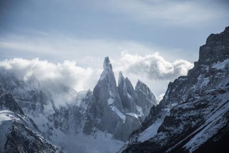 照片, 冰川, 山脉, 灰色, 云彩, 白天, 云计算
