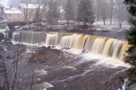 瀑布, 流动, 河, 级联, 流, 景观, 树