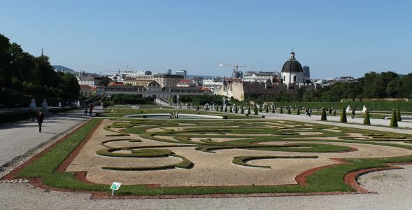 丽城, 花园, 维也纳, 宫, 城堡, 建筑, 公园