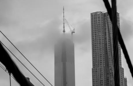 纽约, 美国, 桥梁, 黑色和白色, 视图, 布鲁克林大桥, 历史