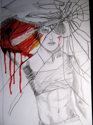 镜子, 绘图, 图稿, 创意, 男孩