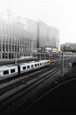 选择性, 颜色, 摄影, 火车, 车站, 建设, 结构