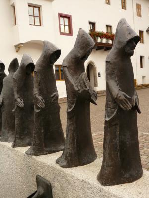 和尚, 和尚, 雕塑, 图, 金属, 修道院, 修道院