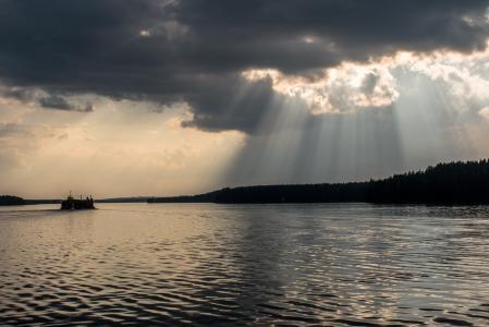 saimaa, 云彩, 湖, 景观, 芬兰语, 在芬兰的湖, 水