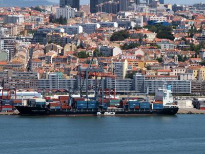琥珀礁湖, 里斯本, 葡萄牙, 船舶, 容器, 端口, 港口