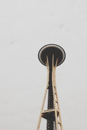 太空针塔, 西雅图, 观测塔, 餐厅, 建筑, 具有里程碑意义, 现代