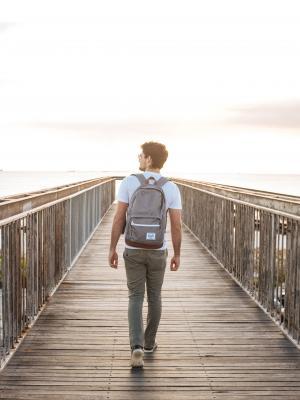 成人, 浮桥, 桥梁, 码头, 时尚, 休闲, 生活方式