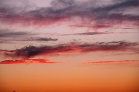 日落, 太阳, 红色, 云彩, 天空, 晚上, eveniing 天空