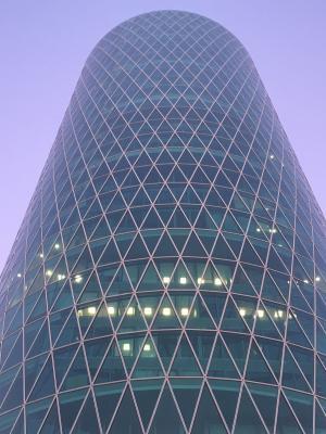 westhafen 塔, 法兰克福, hochaus, 立面, 玻璃, mainhatten, 天际线