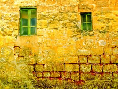 旧墙, 旧的 windows, 背景, 墙上, 老, 窗口, 暖色