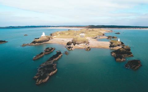 海滩, 海岸, 夏时制, 高角度拍摄, 岛屿, 自然, 海洋