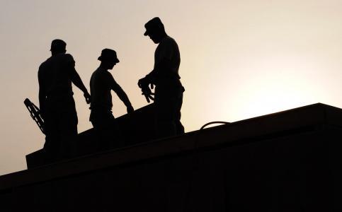 工人, 建设, 网站, hardhats, 剪影, 建设, 工具
