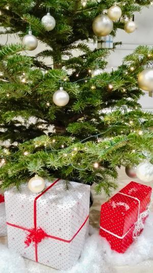 圣诞树, 圣诞节, 作, 礼品, 球, 来临, 圣诞装饰