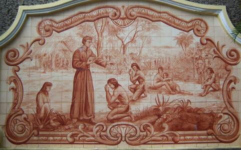 anchieta 神父, 印度人, 理, 装饰瓷砖, 圣保罗