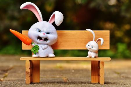 野兔, 邪恶, 银行, 雪球, 电影人物, 宠物, 有趣