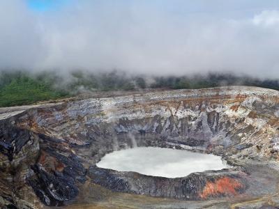 火山, 波阿斯火山, 哥斯达黎加, 火山口
