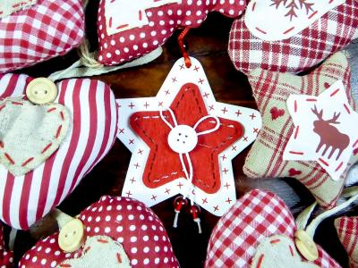 圣诞节, 饰品, 纺织节, 心情, 红色, 冬天, 鹿