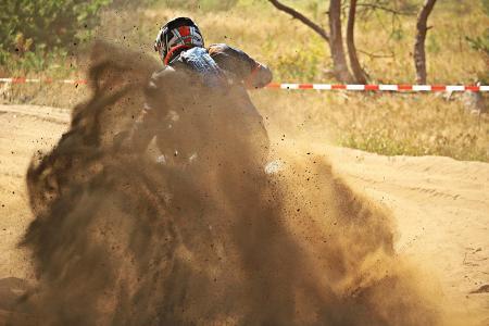 摩托车越野赛, 耐力赛, 赛车, 摩托车, 十字架, 摩托车越野赛骑, 沙子