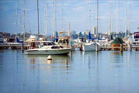 玛蒂尔达湾左, 小船, 蓝色, 几点思考, 水, 河, 度假