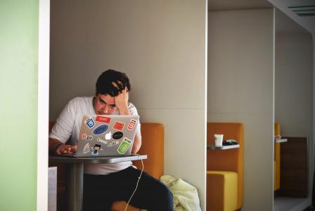 人, 男子, 苹果, macbook, 笔记本电脑, 技术, 应力