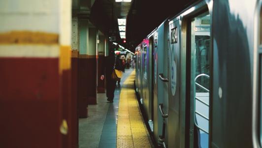 通勤者, 人, 铁路, 火车, 火车站, 车站, 运输