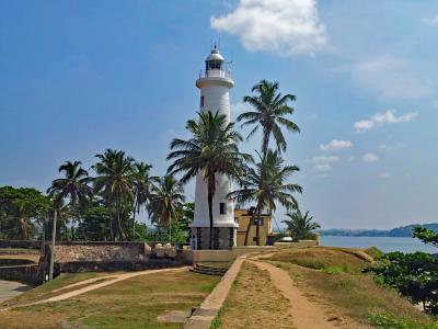 胆汁, 斯里兰卡, 亚洲, 海岸, 海, 灯塔, 旧城