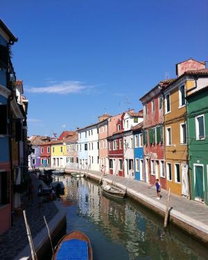房屋, 外墙, 意大利, 车道, 彩色, 前, 布拉诺