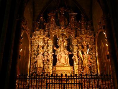 圣洁玛丽亚, 祭坛, 教会, 黄金, 光, 基督, 基督教