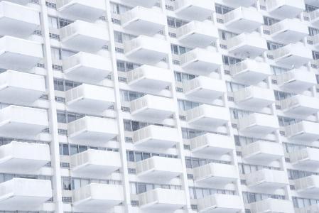 高层, 白色, 建设, 高层, 建筑, 高, 上升