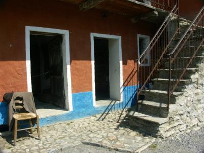 模式, 门, 椅子, 入口, 墙上, 房子, 建设