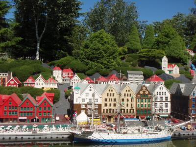 高主题公园, 卑尔根, 码头, 建筑, 房子, 挪威, 小镇