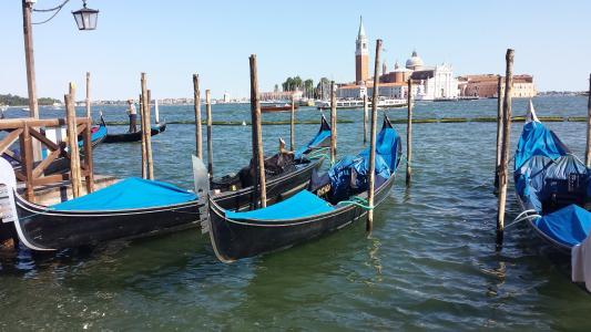 吊船, 威尼斯, 意大利, 威尼斯-意大利, 吊船, 运河, 航海的船只