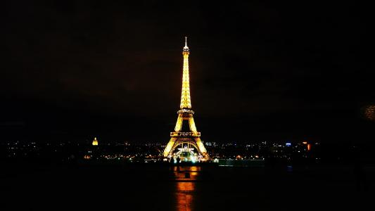 法国, 巴黎, 埃菲尔铁塔, 夜景