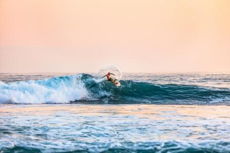 照片, 男子, 骑马, 冲浪板, 白天, 海洋, 水