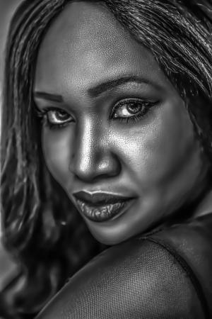 模型, 女性, 肖像, 脸上, 女人, 非洲裔美国人