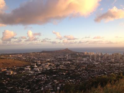 威基基, 瓦胡岛, 夏威夷, 檀香山, 钻石, 头, 旅游