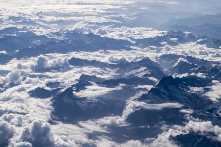 云彩, 高, 景观, 山脉, 自然, 户外, 风景名胜