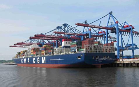 集装箱, 马可波罗, 货船, burchardkai, 终端, 货物, 起重机